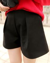 新款 百搭显瘦立体剪裁高腰短裤南瓜裤时装裤阔口裤蓬蓬裤 两色 价格:89.99