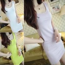 韩版秋装新款 高品质百搭长款包臀修身亲肤多色莱卡背心(长) 女 价格:13.80