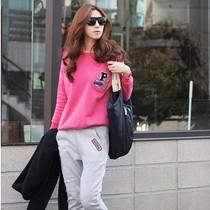 秋装新款2013休闲套装女款韩版潮女套头运动套装大码卫衣套装包邮 价格:148.00