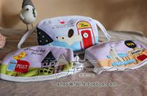 韩国口罩~太美好了手工贴片纯棉布 内夹针刺脱脂棉拼布口罩哇哈哈 价格:5.90