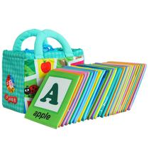 包邮lalababy婴儿玩具儿童早教启蒙卡片拉拉布书新品趣味字母认知 价格:65.00
