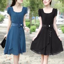 2013夏季新款韩版大码显瘦女装 夏天修身裙子雪纺连衣裙子OL气质 价格:139.00