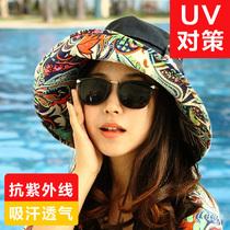 防晒夏天韩版女士折叠护颈遮阳帽太阳帽大沿沙滩帽子防紫外线骑车 价格:79.90