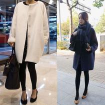 2013韩版秋冬款呢子大衣上衣 加大宽松版风衣 时尚气质毛呢外套 价格:208.00