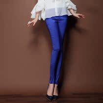 精品通勤小脚铅笔裤长裤休闲裤 修身 拉链 红色 宽松弹力欧美女装 价格:165.00