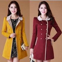 2013秋装女装朵以正品气质风衣韩版修身蕾丝中长款女风衣外套VIYA 价格:239.00