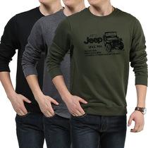 专柜正品 afs jeep 男士长袖t恤 2013男装秋圆领 纯棉休闲体恤衫 价格:128.00