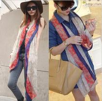 2013新款韩国秋冬女士棉麻波西米亚民族风超长围巾大披肩3款包邮 价格:12.50