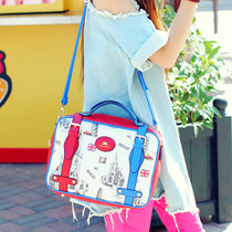 猫猫包袋2013新款包邮个性百搭复古箱型包单肩手提包女包M16-060 价格:89.00