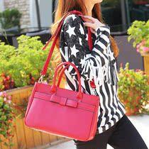 猫猫包袋2013新款韩版潮包蝴蝶结公文包单肩手提包淑女包M32-032 价格:69.00