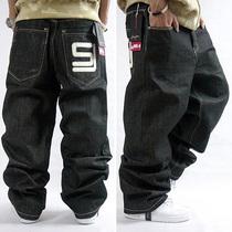 包邮潮男装加肥加大码长裤嘻哈牛仔裤HIPHOP街舞暗花宽松滑板裤子 价格:85.00
