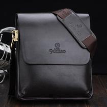 2013最新款正品金利来男包男士单肩包斜跨包商务休闲包头层牛皮包 价格:188.00