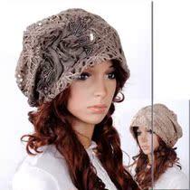 特价新款华丽女士帽韩版头巾包头套花朵蕾丝时装堆堆帽春秋化疗帽 价格:14.00
