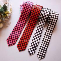 punk日系英伦学院风校服制服领带 红黑/黑白格子 女款 多色可选 价格:10.15