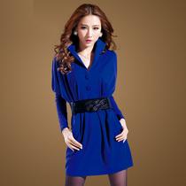 2013秋装新款女装韩版长袖抗皱OL针织短裙时尚气质大码显瘦连衣裙 价格:148.00