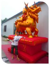 3米4米金色麒麟送子充气拱门彩虹门气模婚庆道具气球金狮金象 价格:340.00