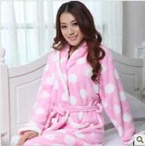 2013 秋冬新款 女士家居服 珊瑚绒女式优雅从容浴袍睡袍加厚 特价 价格:39.90