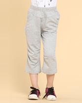 梦特娇童鞋专柜正品女童灰色休闲针织七分裤纯棉短裤 价格:59.00