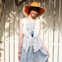 [特]歌莉娅GOELIA 春夏新款 雪纺绣花马甲25R6A060 价格:99.00