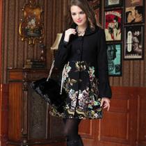 2013秋冬装新款女装欧美大衣 高端正品绣花羊毛呢外套呢子大衣 价格:378.00