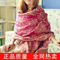 丝尚往来 秋冬保暖围巾披肩两用民族风空调流苏女士超长披巾 价格:15.00