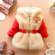 韩版童装冬装新款女童女宝宝婴儿棉服皮袖子儿童棉衣童外套加厚潮 价格:55.00