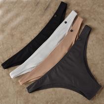 夏季新款舒适美臀内裤女 薄款滑诱惑半包臀底裤 低腰性感小三角裤 价格:14.98