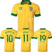 巴西主场球衣足球服泰版13-14新款巴西国家队足球衣服比赛服定制 价格:35.00