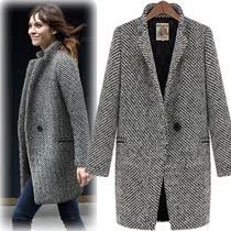 (尚构)2013新款呢子大衣 秋冬外套 女 韩国西服领羊毛大衣女 价格:268.00