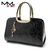 名门春天2013新款女包时尚大牌女士包包正品漆皮石头纹手提包包邮 价格:98.00