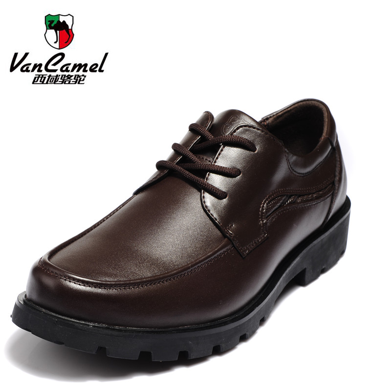西域骆驼男鞋新款男士潮流鞋vancamel真牛皮皮鞋商务正装皮鞋1006 价格:230.00