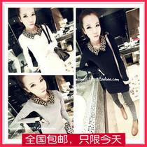 蘑菇街女装潮2013秋装新款韩版衣服豹纹百搭长袖T恤折800独家秒杀 价格:28.00