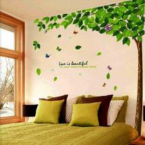 特价促销【柠檬树】清新田园 墙贴客厅电视风景背景 绿叶清新绿树 价格:9.90