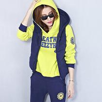2013秋冬季新款韩版卫衣女加厚抓绒套头休闲套装三件套卫衣女装 价格:368.00