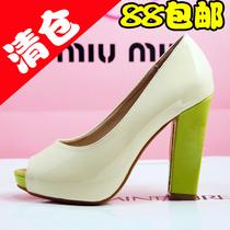 2013秋季新款凉鞋潮韩版公主女鞋单鞋子 防水台粗跟鱼嘴超高跟鞋 价格:88.00