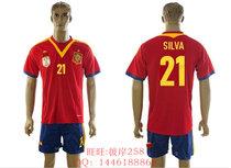 13-14 Spain #21 SILVA 西班牙队主场球衣 席尔瓦原版印号足球服 价格:88.00