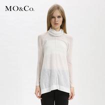 MO&Co. 摩安珂 女装 M123TST80 宽松款纯色高领T恤 moco 价格:419.00