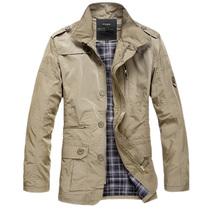 享炫 13秋装新品 男士修身夹克 流行大码立领男式夹克外套 卡其色 价格:89.00