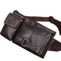 韩版男包真皮腰包休闲 户外男士头层牛皮包手机包多功能薄款胸包 价格:90.00
