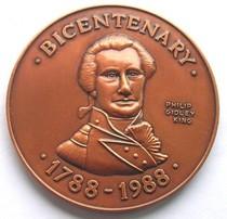 澳大利亚诺福克岛1988年Philip Gidley King登陆200周年纪念铜章 价格:299.00