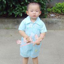 婴幼儿套装安贝尔专柜*夏季短袖背带裤*男童*全棉1-3岁特价 价格:38.00