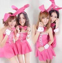 甜美可爱兔女郎▲万圣节圣诞节派对角色制服 歌手组合演出服装 价格:30.00
