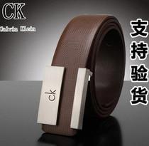 美国ck皮带 正品 代购专柜正品男士款头层真皮牛皮平滑扣品牌腰带 价格:88.00