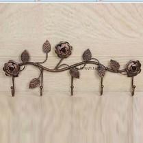 创意玫瑰门后衣帽钩 挂衣架 田园衣服挂钩 挂包钩 壁挂铁艺挂钩 价格:19.00