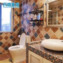 正品五彩精灵仿古砖地中海阳台厨房仿古地砖卫生间瓷砖可混拼墙砖 价格:3.50
