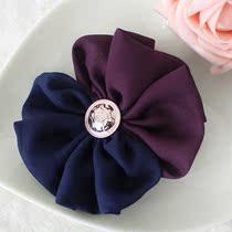 6份包邮 雪纺双色撞色花朵 薄荷的诱惑 鸭嘴夹 蝴蝶结发饰 发卡 价格:3.80