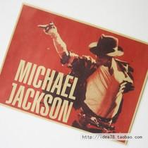 迈克尔杰克逊 怀旧复古老海报 广告招贴画 酒吧装饰画42*30cm 价格:4.00