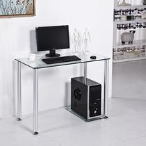 1米简易笔记本电脑桌台式家用时尚钢化玻璃书桌写字台4人座小餐桌 价格:219.80