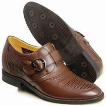 高哥内增高男鞋 商务正装皮鞋 韩版英伦尖头皮鞋 夏季透气凉皮鞋 价格:438.00