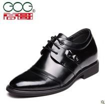 新款高哥内增高男鞋 英伦韩版系带皮鞋 头层牛皮 商务正装皮鞋 价格:378.00